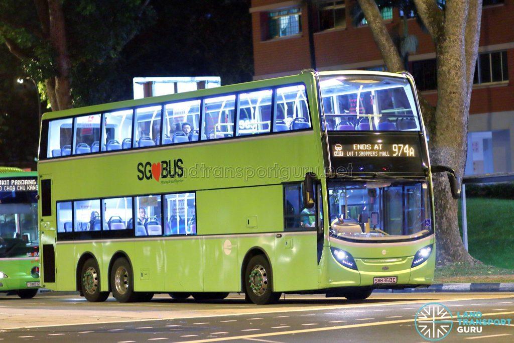 Bus Service 974A - Tower Transit ADL Enviro500 (SMB3513C)