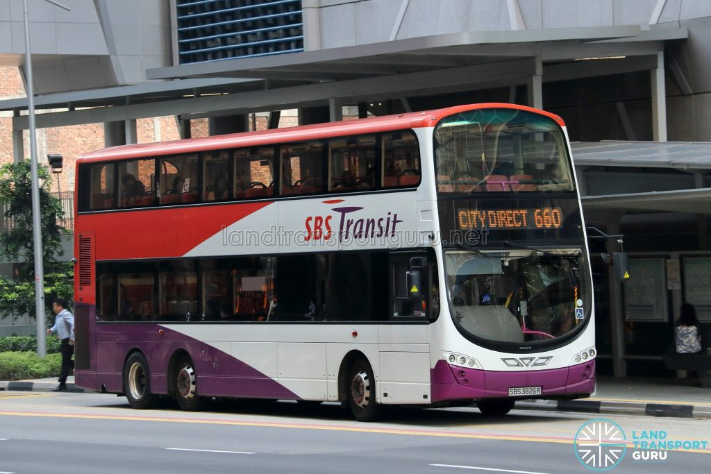 City Direct 660 - SBS Transit Volvo B9TL Wright (SBS3826R)