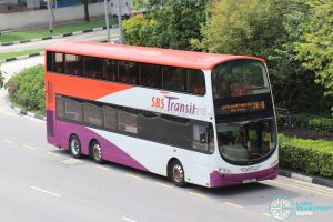 On-Demand Public Bus (Joo Koon) JK-8 - SBS Transit Volvo B9TL Wright (SBS3867Y)