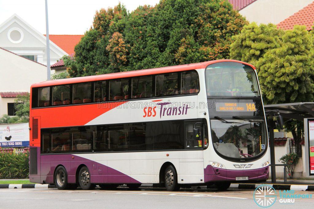 Bus Service 14A - Volvo B9TL (SBS3918J)