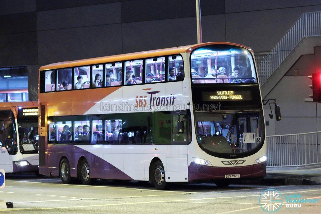 Shuttle 21 - SBS Transit Volvo B9TL Wright (SBS3921Z)