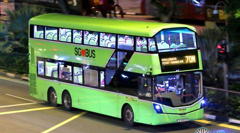 Service 70M - SBS Transit Volvo B8L (SG4003D)