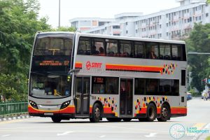 Bus Service 67 - SMRT Alexander Dennis Enviro500 (SMB5014M)