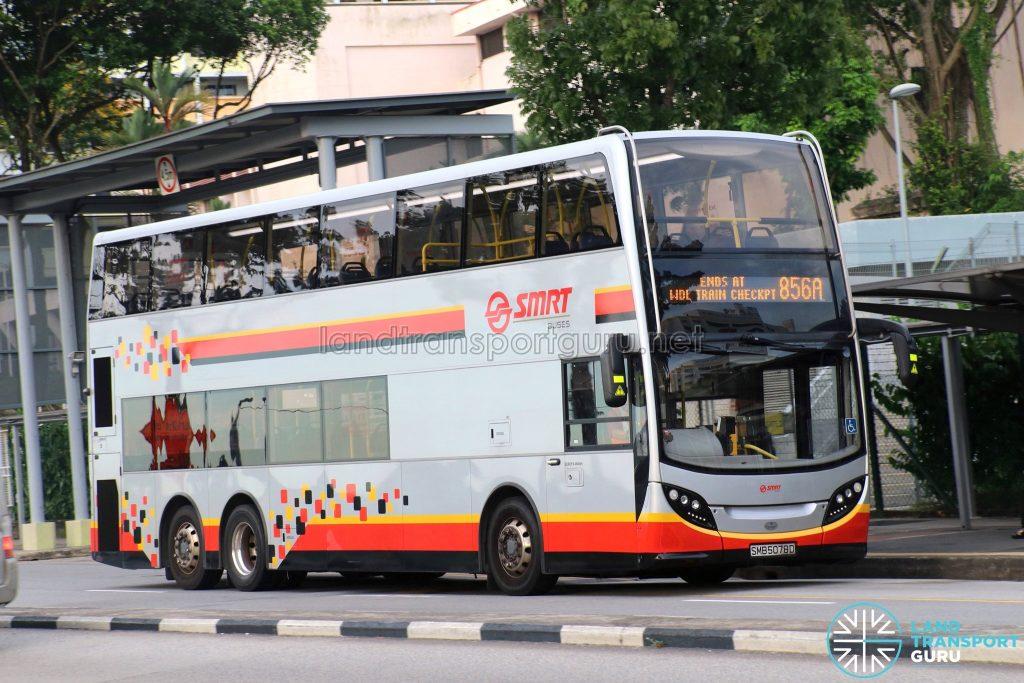 Service 856A - SMRT ADL Enviro500 (SMB5078D)