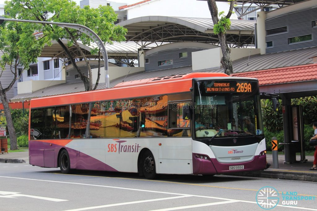 Bus 269A - SBS Transit Scania K230UB Euro V (SBS5155E)