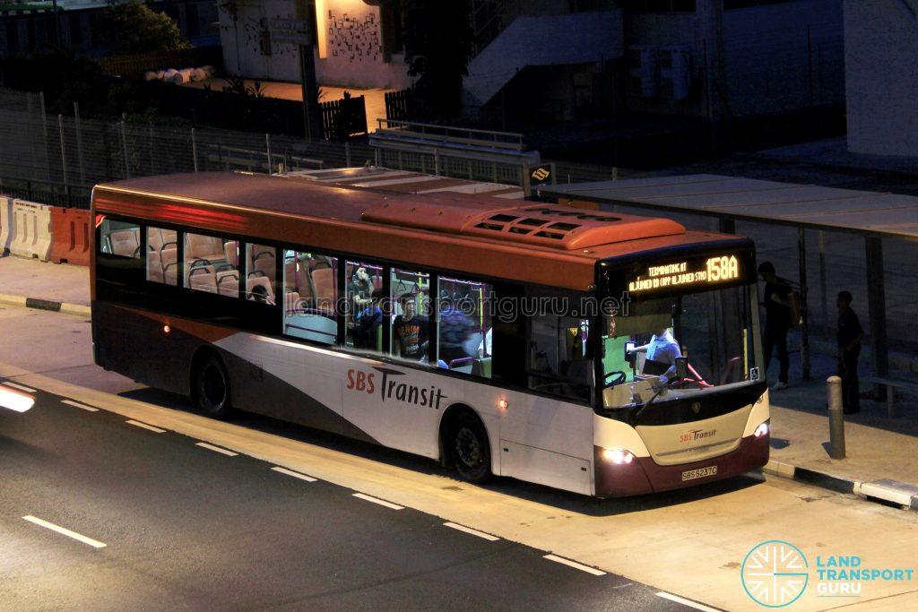 Bus 158A - SBS Transit Scania K230UB Euro V (SBS5237C)