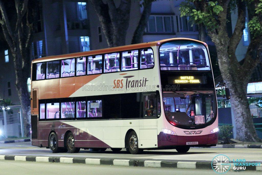 Shuttle 21 - SBS Transit Volvo B9TL Wright (SG5330C)