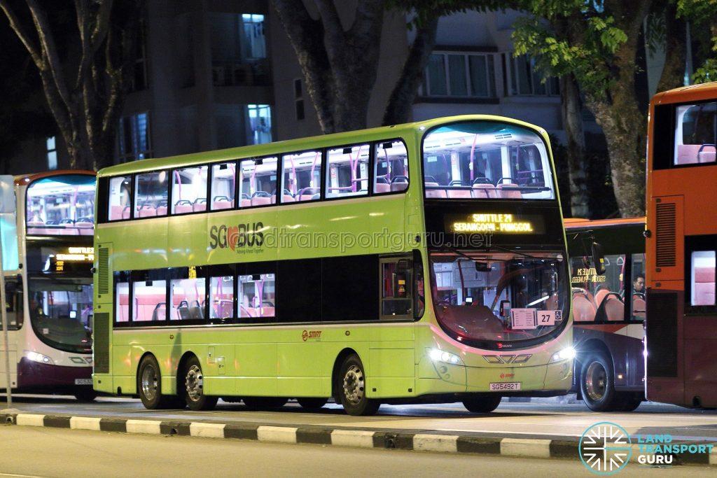 Shuttle 21 - SMRT Buses Volvo B9TL Wright (SG5492T) [TF27]