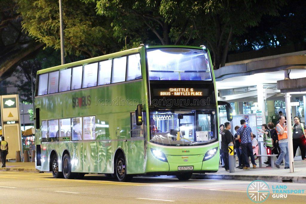 Shuttle 6 - SMRT Buses ADL Enviro500 (SG5702M)