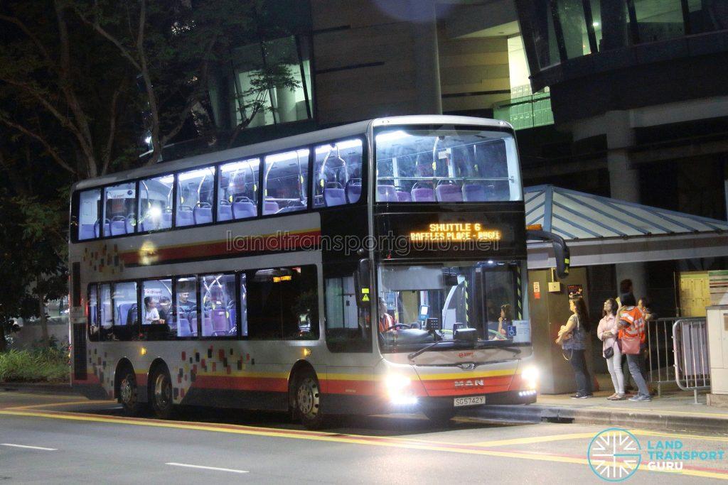 Shuttle 6 - SMRT Buses MAN A95 (SG5742Y)