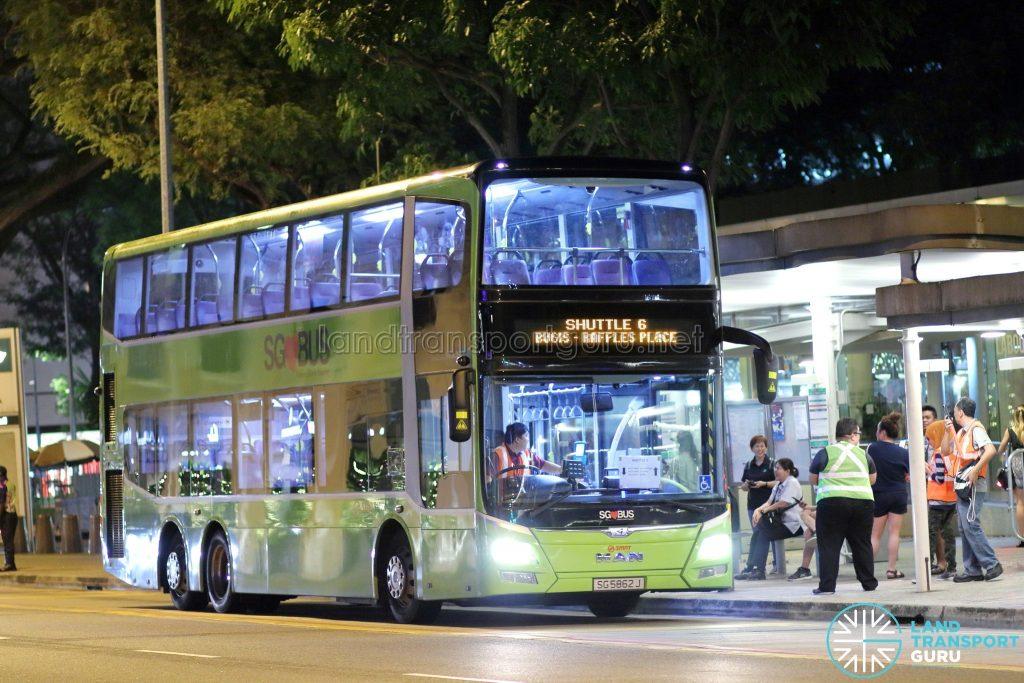 Shuttle 6 - SMRT Buses MAN A95 (SG5862J)
