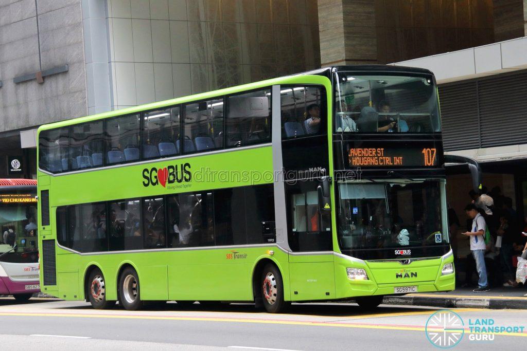 Service 107 - SBS Transit MAN A95 Euro 6 (SG5971C)