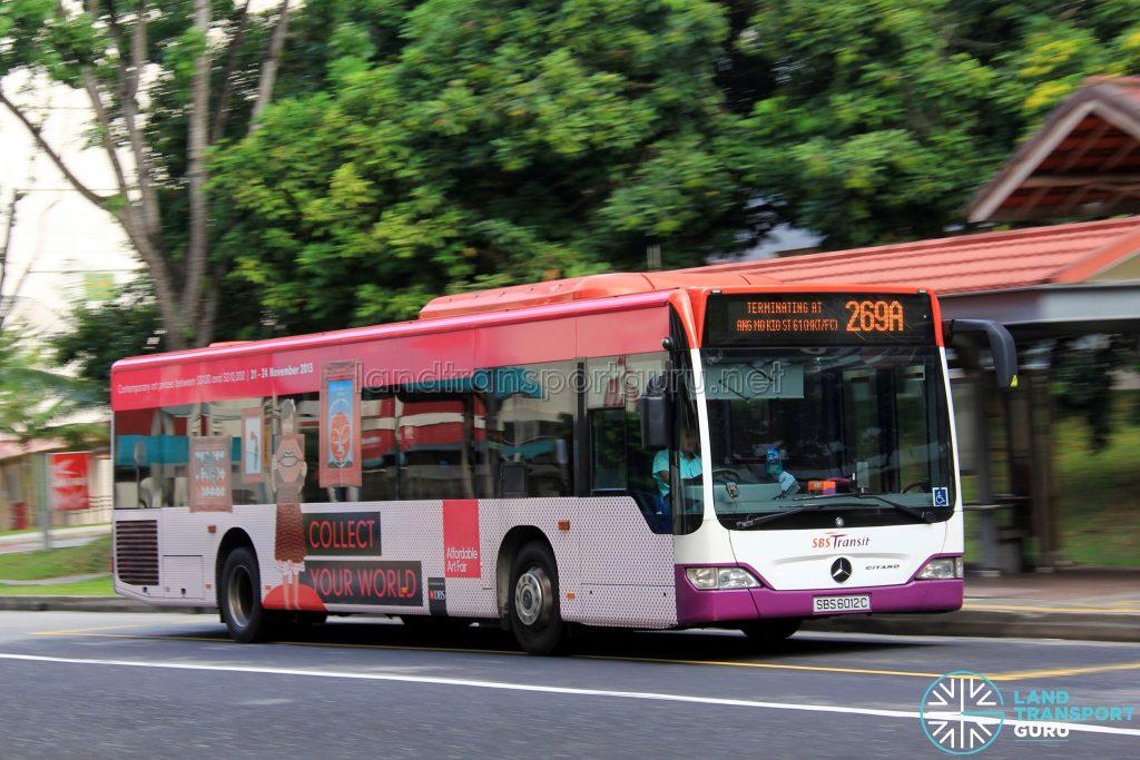 Bus Service 269A - Mercedes-Benz Citaro (SBS6012C)