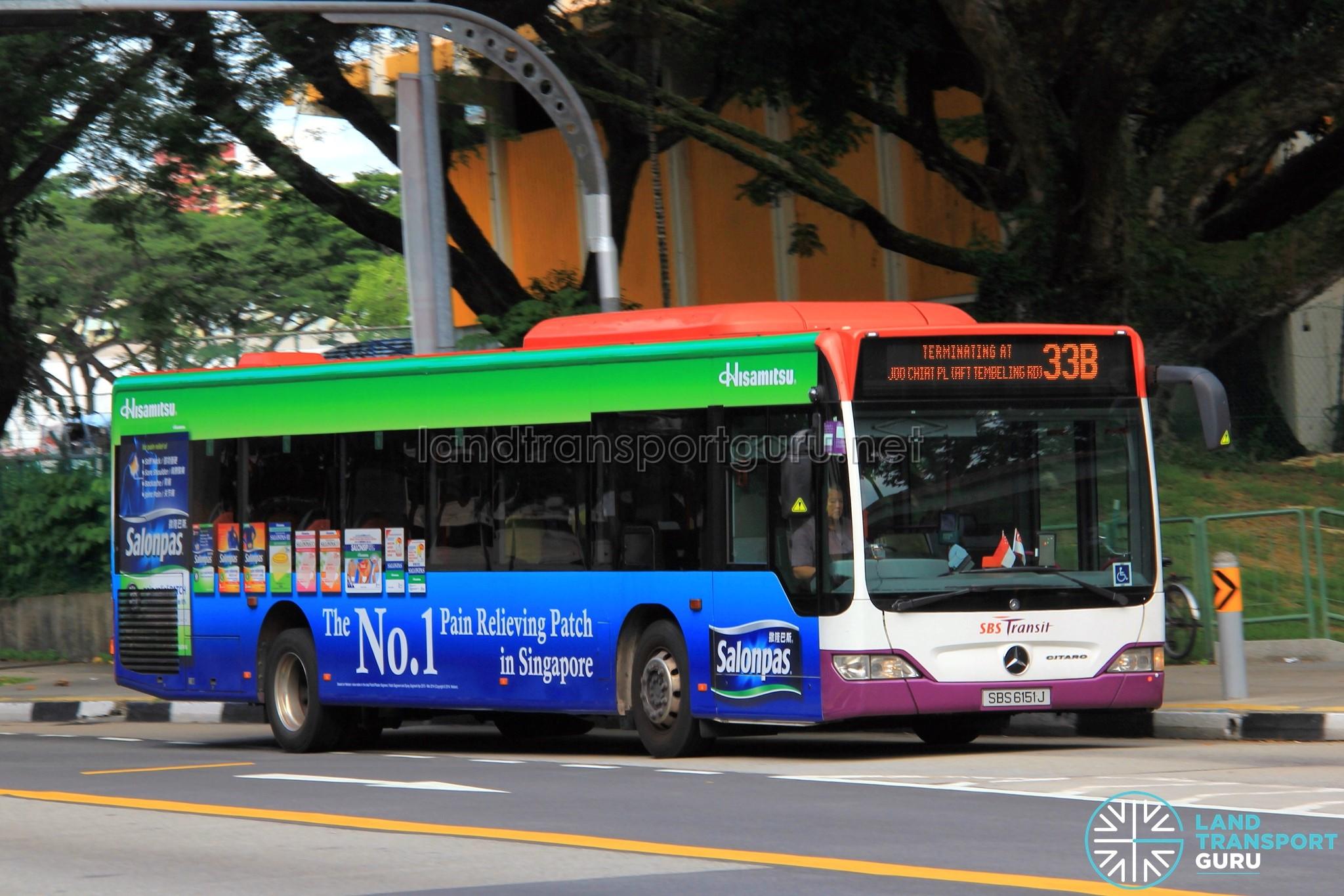 Bus Service 33B - Mercedes-Benz Citaro (SBS6151J)
