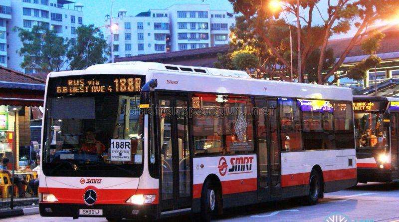 Bus 188R - SMRT Mercedes-Benz OC500LE (SMB61J)