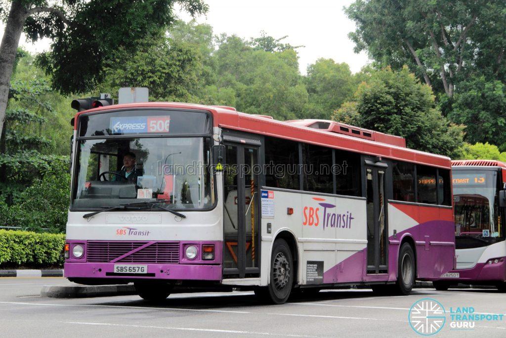Bus 506 - SBS Transit Volvo B10M Mark III (SBS657G)