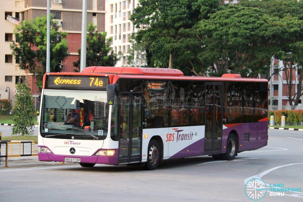 SBS Transit Express Bus Service 74e | Land Transport Guru
