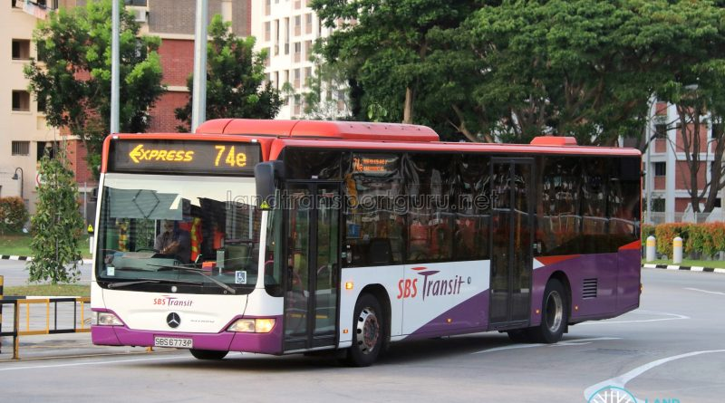 Bus 74e - SBS Transit Mercedes-Benz Citaro (SBS6773P)
