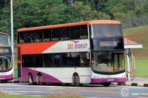 Bus 72 - SBS Transit Volvo B9TL CDGE (SBS7424R)