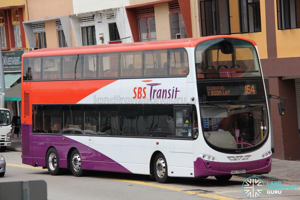 Bus Service 154 - SBS Transit Volvo B9TL Wright (SBS7500D)