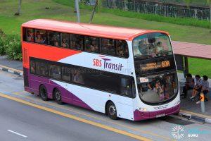 Bus Service 60A - SBS Transit Volvo B9TL Wright (SBS7500D)