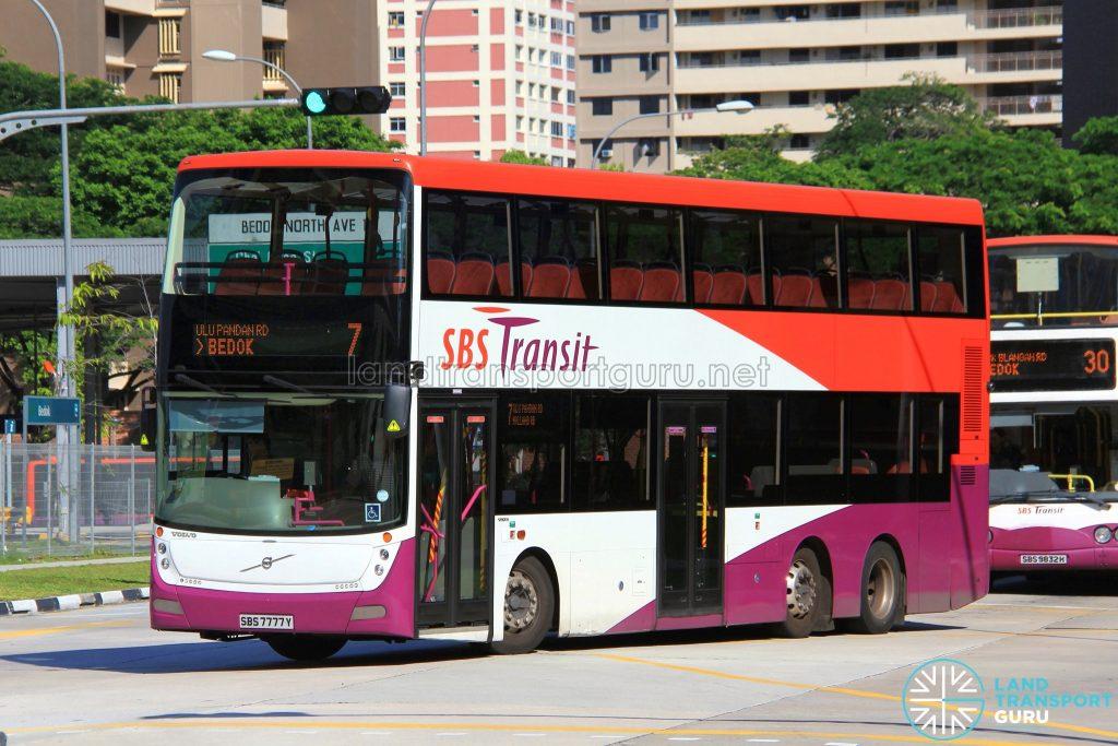 Bus Service 7 - SBS Transit Volvo B9TL Gemilang (SBS7777Y)