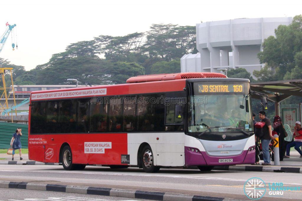 Service 160 - SBS Transit Scania K230UB (SBS8123C)
