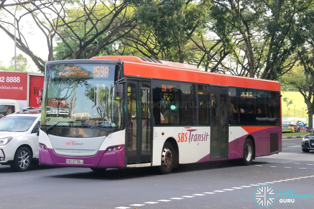 Bus 159A - SBS Transit Scania K230UB Euro V (SBS8736J)