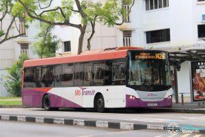 Bus 142A - SBS Transit Scania K230UB Euro V (SBS8912S)
