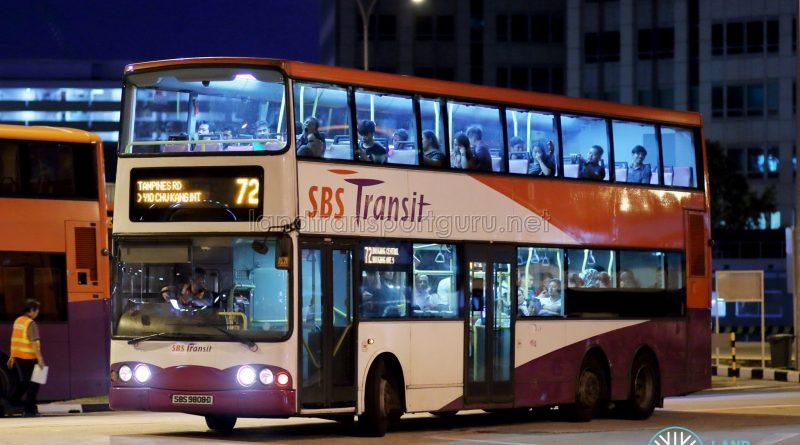 Bus 72 - SBS Transit Volvo B10TL (SBS9808D)