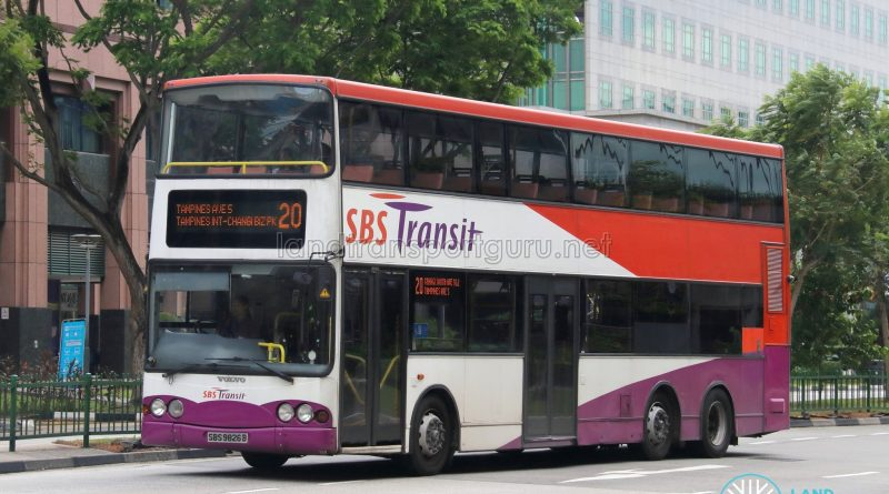 Bus Service 20 - SBS Transit Volvo B10TL (SBS9826B)