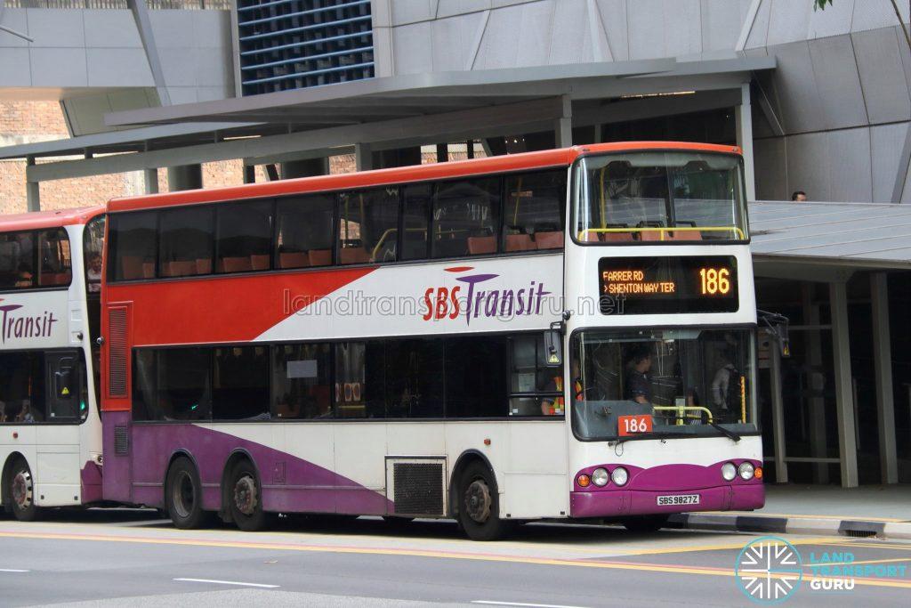 Bus 186 - SBS Transit Volvo B10TL (SBS9827Z)