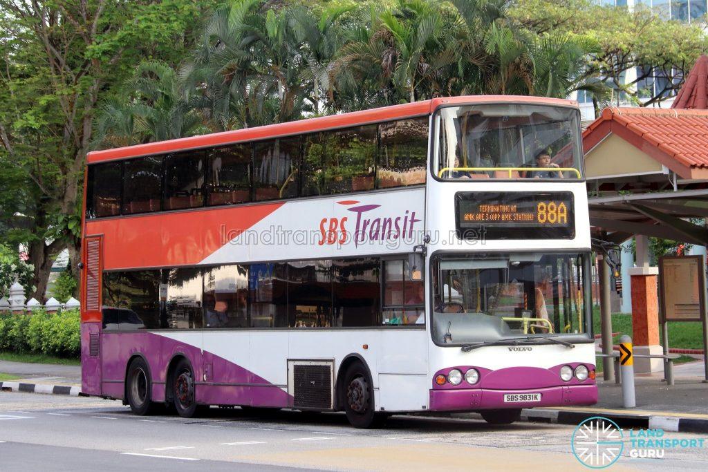 Bus 88A - SBS Transit Volvo B10TL (SBS9831K)