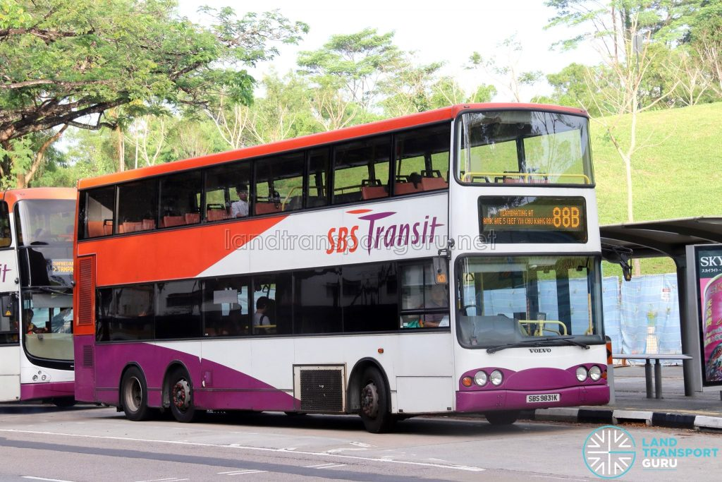 Bus 88B - SBS Transit Volvo B10TL (SBS9831K)