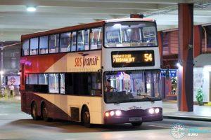 Bus 54 - SBS Transit Volvo B10TL (SBS9840J)