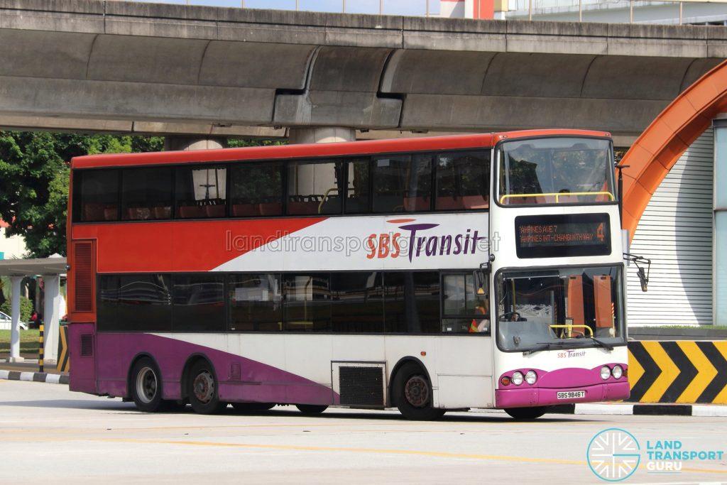 Bus 4 - SBS Transit Volvo B10TL (SBS9846T)