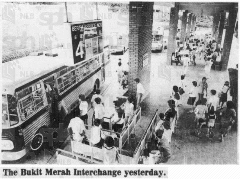 Bukit Merah Bus Interchange (January 1983) - Photo from the National Archives