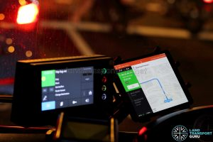 Tablet with BusNow Driver Application (Night Bus)