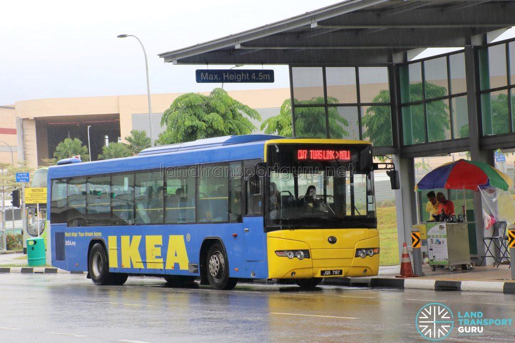 Causeway Link Yutong ZK6118HGA (JQR 7187) - Route CW7