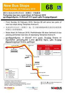 New Bus Stops for Go-Ahead Bus Service 68
