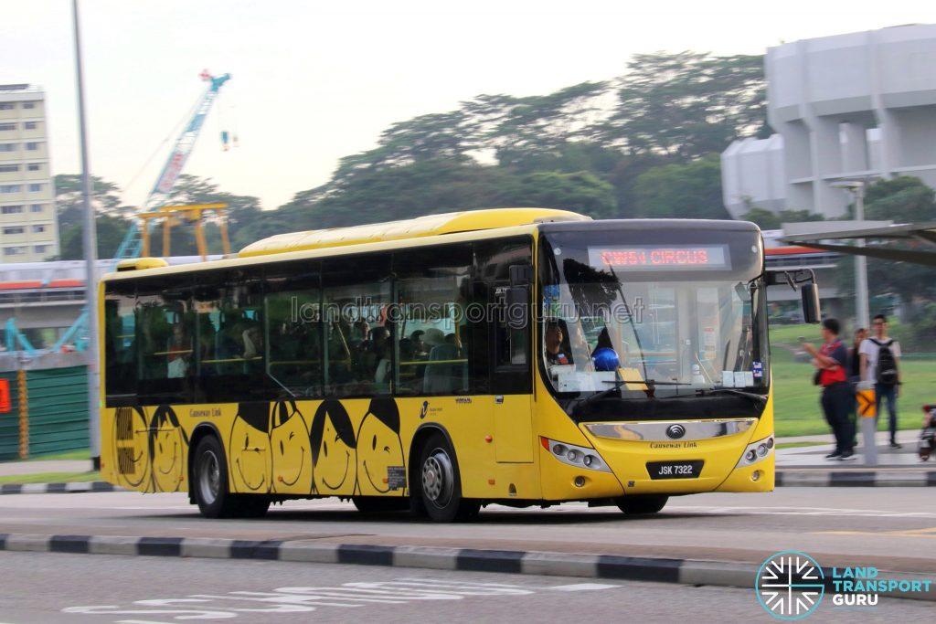 Service CW5 - Causeway Link Yutong ZK6126HG (JSK 7322)