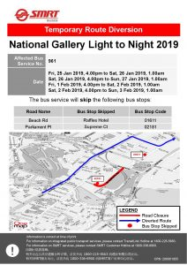 SMRT Buses Poster for National Gallery Light to Night 2019