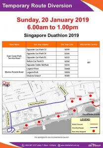 SBS Transit Poster for Singapore Duathlon 2019
