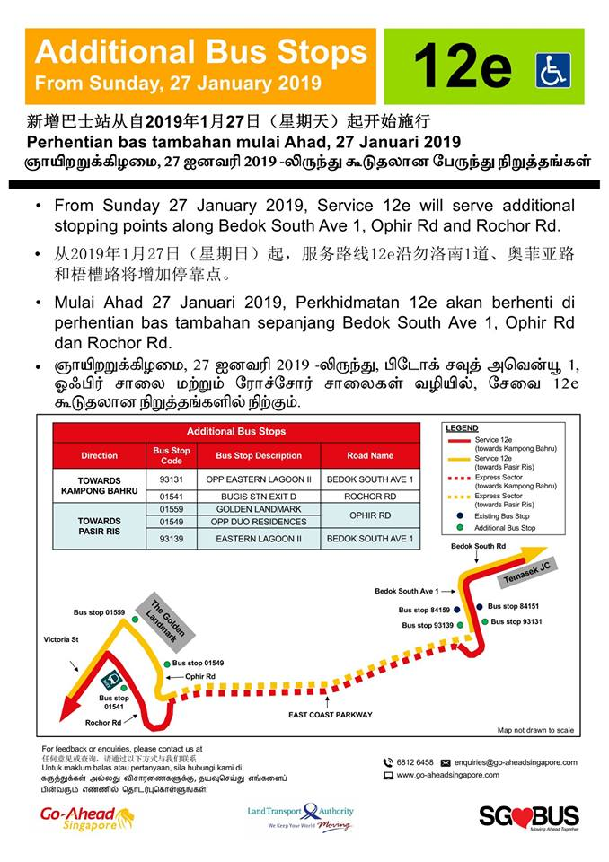 Additional Bus Stops for Go-Ahead Bus Service 12e