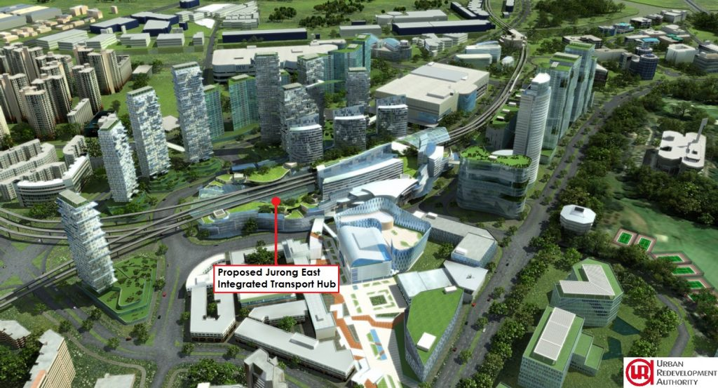 Jurong East Concept Plan from URA, showing planned Integrated Transport Hub