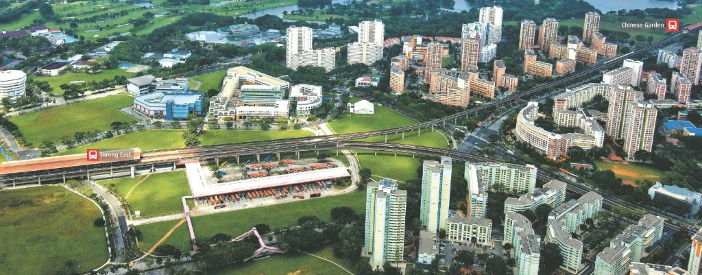 Aerial view of Jurong East Bus Interchange (1985-2011) (Photo: URA)