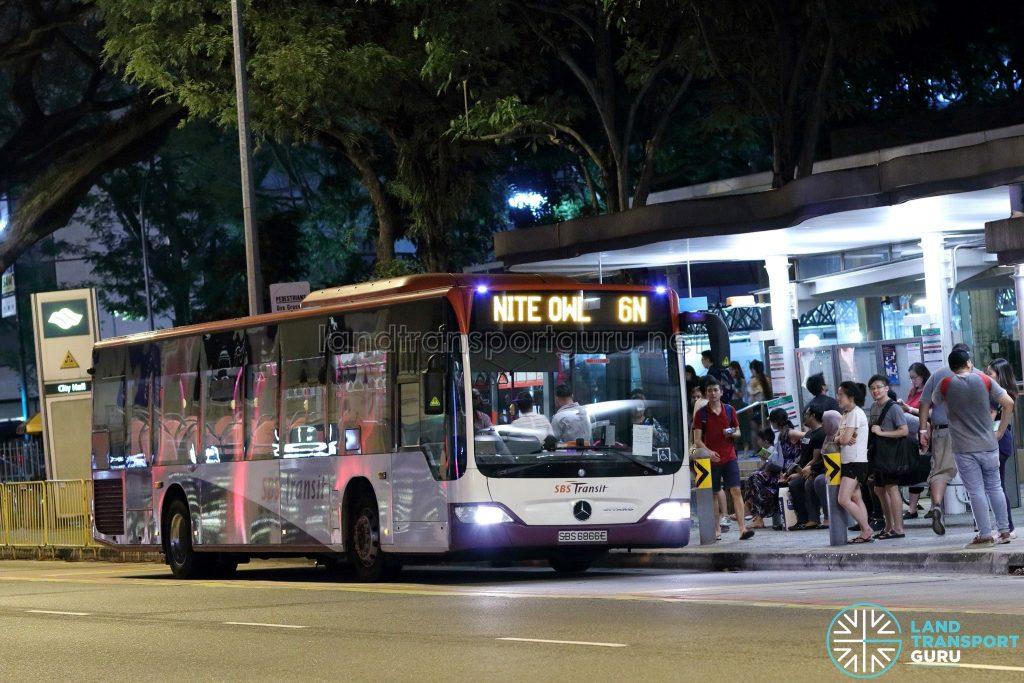 Nite Owl 6N - SBS Transit Mercedes-Benz Citaro (SBS6866E)