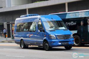 Tanjong Rhu - Raffles Place Premium Bus Service - ComfortDelGro Bus Mercedes-Benz Sprinter (PC7127S)