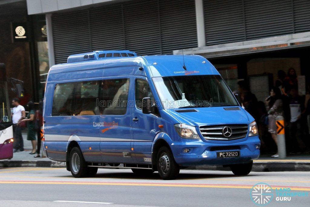 Tanjong Rhu - Raffles Place Premium Bus Service - ComfortDelGro Bus Mercedes-Benz Sprinter (PC7212D)