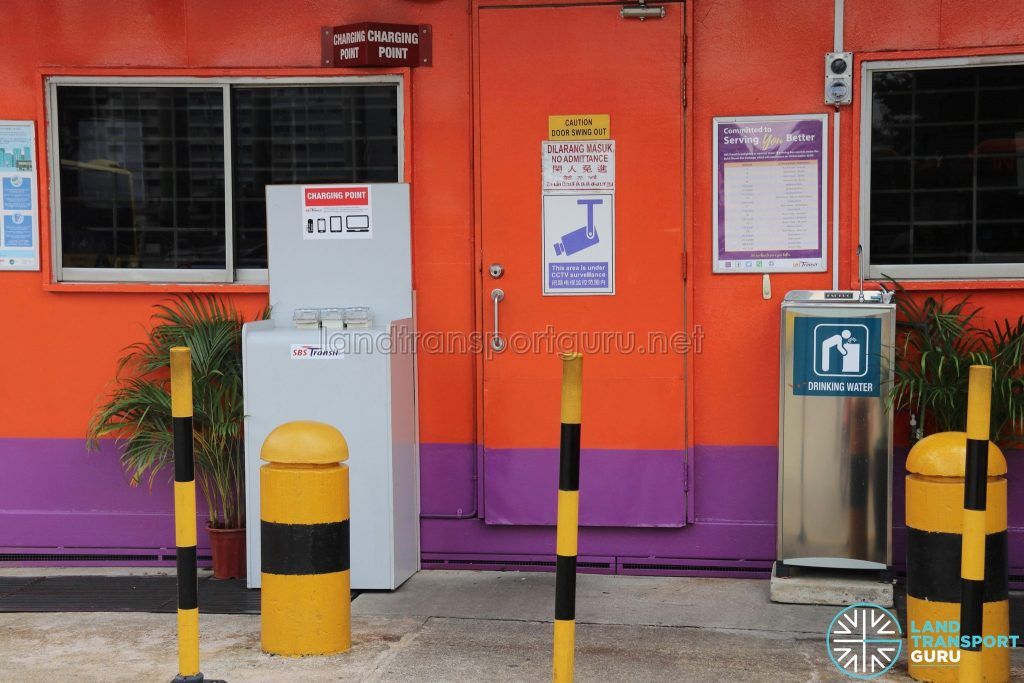 Queen Street Bus Terminal - Charging Point & Drinking Water Point